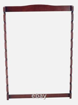 10 Golf Clubs Display Wall Mounted Rack, Solid Wood, Case Mahogany