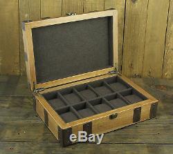 10 Slot Classic/Vintage Wood Watch Box Display Case Organizer Jewelry Storage