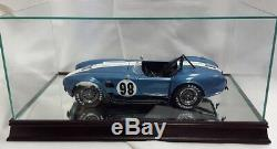 112 Scale Glass and Wood Mirrored Display Case for Scale Model Cars MM1212