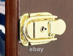 117 L Casino Chip Coin Display Case Cabinet Chips Holder Wall Rack 98% UV Locks