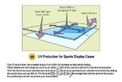 118 Scale Diecast Car Model Hotwheel Wall Display Case 98% UV Lockable