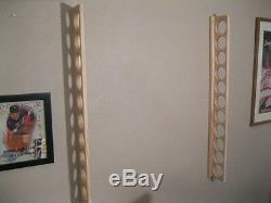 11 Bat Wood Baseball Bat Display Wall Rack Wall Mount (SEE DESCRIPTION)