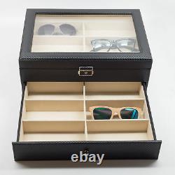 12 Black Eyeglass Sunglass Oversized Storage Display Case Glasses Organizer