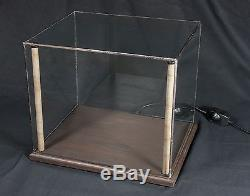 12x10 LED Lighted Display Case for Collectibles, Specimens, etc. Wood & Glass