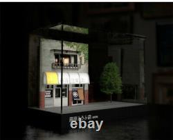 164 Initial D Scale Scene Model Fujiwara Tofu Shop LED Dust-proof Display Case