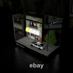 164 Scale Initial D Fujiwara Tofu Shop Scene LED Display Case Dust-proof Box