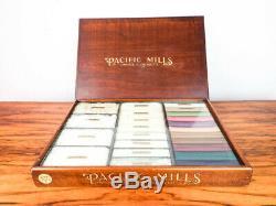 1900 Antique Advertising Pacific Mills Cotton Wood Display Case Salesman Sample