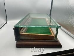 1920s PARKER Lucky Curve Fountain pen Wood Display Case 23 pens Waterman Tray