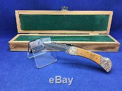 1979 Puma 223 African Big 5 Leopard Knife & Wood / Velvet Display Case Mint 65