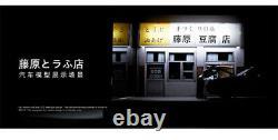 1/32 Initial D Fujiwara Tofu Shop Scene Figure LED Light Display Case for AE86