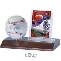 1 case 36 Ultra Pro Dark Wood Base Baseball Ball & Card Storage Display Holders