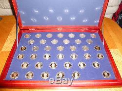 2007 2016 S COMPLETE Presidential Dollar PROOF Set Beautiful Wood Display Case