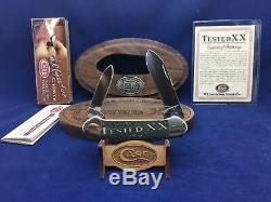2010 Case Tested XX Canoe Knife Antique Bone Mint In Wood Display Case #13