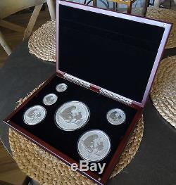 2016 Australia Year of the Monkey Set in Beautiful Wood Display case Ebay Bux