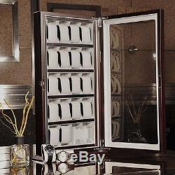 20 Slot Watch Display Case Wood Deluxe Acrylic Top Show Stand Holder Organizer