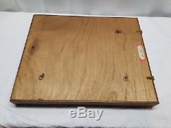 22 x 18 Wood Wooden Glass Display Case Shadow Box Picture Frame Wall Mount