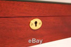 24 Watch Cherry Storage Rose Wood Display Chest Box Display Wooden Case Cabinet