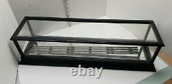 27 O Scale Model Train Display Case For Mirrored Bottom 3 Rail Loose Track