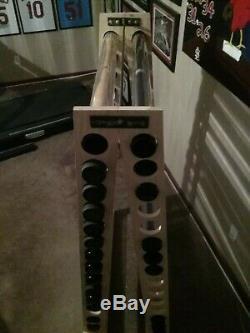 30 bat Wood A-Frame baseball bat display rack Premium Pine