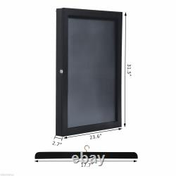 31.5 Hockey Jersey Display Case Frame Shadow Box Football Baseball Black Wood