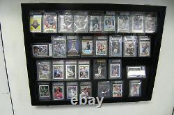 36 Horizontal Graded Baseball Card display Case DEEP