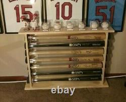 5 Bat Wood Free Standing Baseball Bat Display Rack