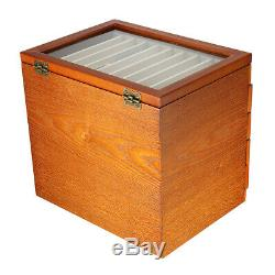 5 Layer Wooden Box Fountain Pen Display Storage Organize Wood Case 50 Pens