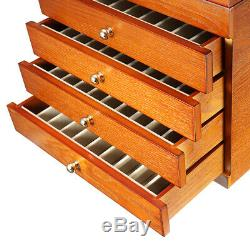 5 Layer Wooden Box Fountain Pen Display Storage Organize Wood Case 50 Pens Large