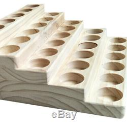 5 Tier Wood Essential Oils Stand Rack Display Shelf Wooden Storage Case Box