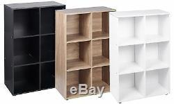 6,9 Cube Oak Modular Bookcase Shelving Display Shelf Storage Unit Wood Door NEW