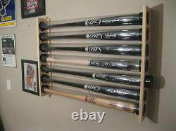 6 Bat Wood Baseball Bat Display Wall Rack Wall Mount (SEE DESCRIPTION)
