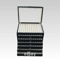 6-Layer 78 Pens Display Box Organizer Fountain Wood Storage Collection Tray Case