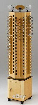 6-Sided Wood Floor Display Storage Holds 108-Pair Sunglass Readingglass Retail