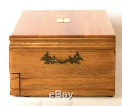 #753 Custom Built Solid Mahogany Fountain Pen Storage Display Chest Hand Crafted