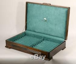 #781 Custom Built Solid Mahogany Fountain Pen Storage Display Chest Hand Crafted