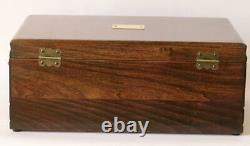 #794 Custom Built Solid Mahogany Fountain Pen Storage Display Chest Hand Crafted