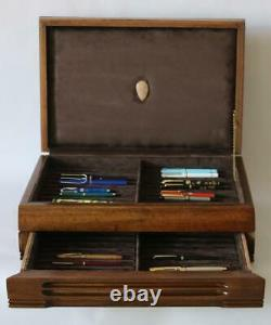 #795 Custom Built Solid Mahogany Fountain Pen Storage Display Chest Hand Crafted