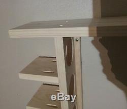 7 Bat Wood Baseball Bat Display Rack with Multi Shelves (SEE DESCRIPTION)