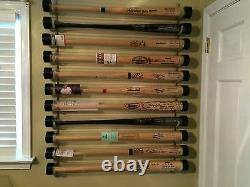 7 Bat Wood Baseball Bat Display Wall Rack Wall Mount (SEE DESCRIPTION)