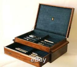 #804 Fountain Pen Storage Display Chest Custom Built Solid Mahogany Hand Crafted