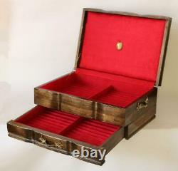 #820 Hand Crafted Fountain Pen Storage Custom Built Solid Mahogany Display Chest