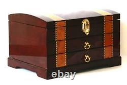 #862 Fountain Pen Storage Display Chest Hand Crafted Custom Built Interior