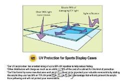 8 Riddell Mini Helmets Helmet Display Case Wall Rack Cabinet- 98% UV Lockable