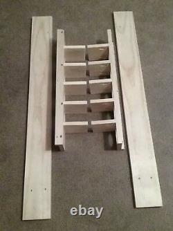 9 Bat Wood Baseball Bat Display Rack with Multi Shelves (SEE DESCRIPTION)