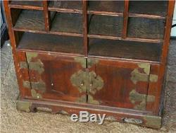ANTIQUE CHINESE ORIENTAL WOOD DISPLAY CASE, c. 1930's