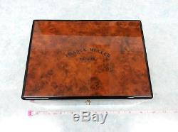Authentic Franck Mulle R Wood Watch Boxes Display Case