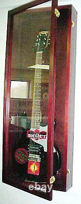 Acrylic Guitar Display Case / Cherry Wood Guitar Case / NF