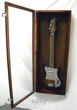 Acrylic Guitar Display Case Mahogany / Cherry Wood Guitar Case