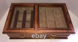 Agresti Watch BoxWood & Glass Display CaseJewelry & Wristwatch3 DrawerItaly