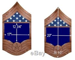 Air Force Master Sergeant Msgt Military Wood Shadow Box Medal Display Case